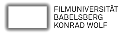 Logo der Filmuniversität Konrad Wolf